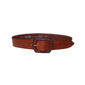 Cinturón hebilla recta cuero