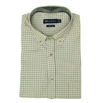 Camisa verde cuello botón