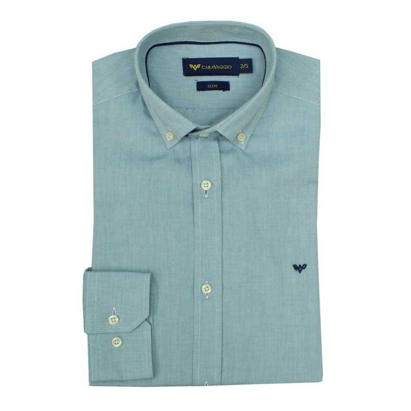 Camisa lisa turquesa