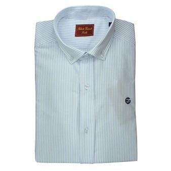Camisa rayas celeste y blanca