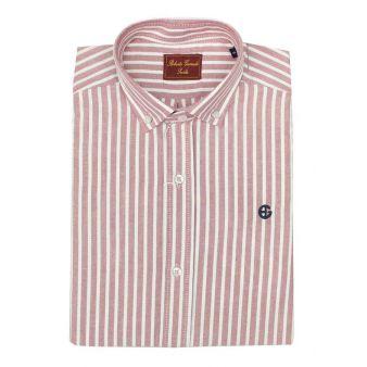 Camisa rayas anchas rojas