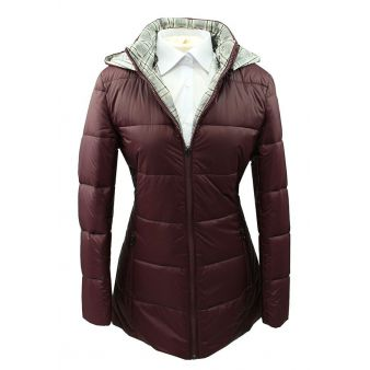 Burgundy reversible padded...