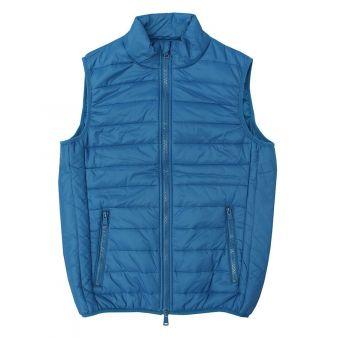 Deep blue sleeveless waistcoat