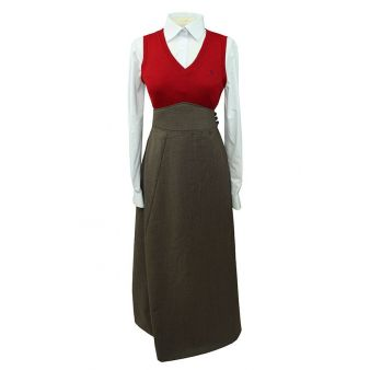 Falda de amazona marrón