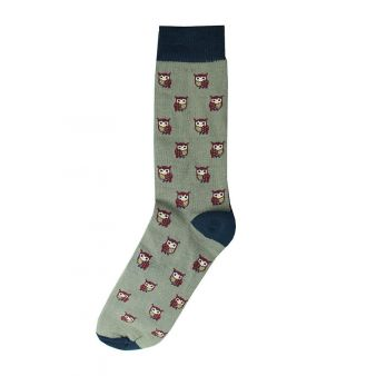 Calcetín buhos gris