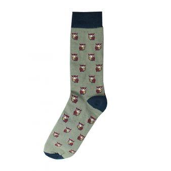 Grey owls sock