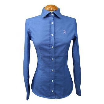 Lady's blue oxford shirt