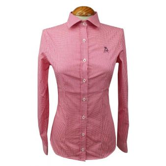 Lady's red gingham shirt