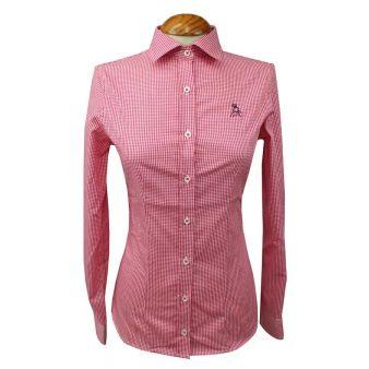 Camisa mujer vichy roja