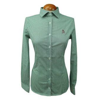 Camisa mujer vichy verde