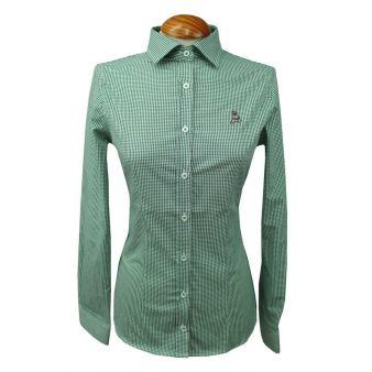 Green gingham Lady's shirt