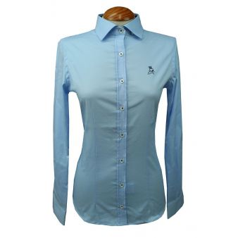 Lady's sky blue shirt