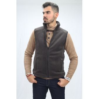 Brown sleeveless fleece...